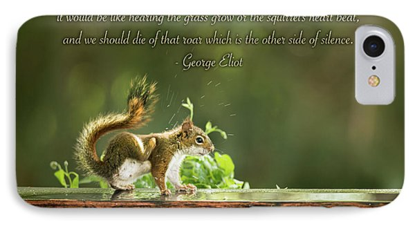 Squirrel's Heart Beat-george Eliot IPhone Case by Onyonet  Photo Studios