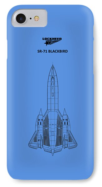 Sr-71 Blackbird IPhone Case by Mark Rogan
