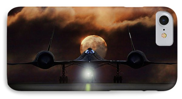 IPhone Case featuring the digital art Sr-71 Supermoon by Peter Chilelli
