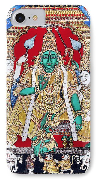 IPhone Case featuring the painting Sri Ramar Pattabhishekam by Ragunath Venkatraman