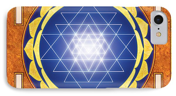 Sri Yantra. Sri Chakra. Yoga Decor. Astrology. IPhone Case by Ananta Govinda