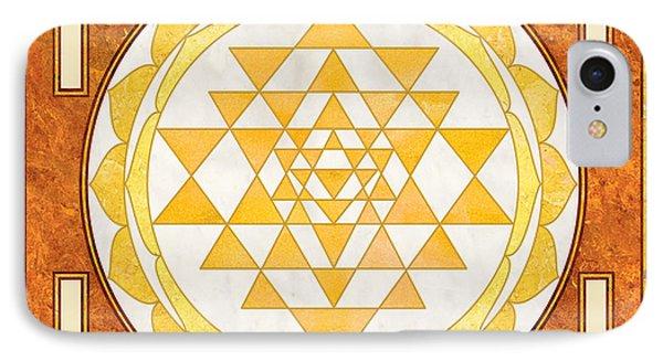 Sri Yantra. Sri Chakra. Yoga Decor. Marble Texture. IPhone Case by Ananta Govinda
