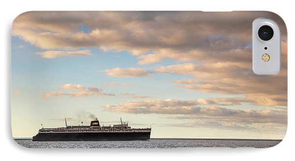 Marquette iPhone 7 Case - Ss Badger Leaving Port by Adam Romanowicz
