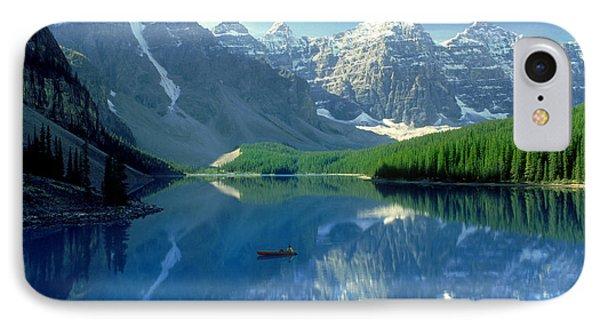 S.short Canoeist, Moraine Lake, Ab, Fl Phone Case by Steve Short