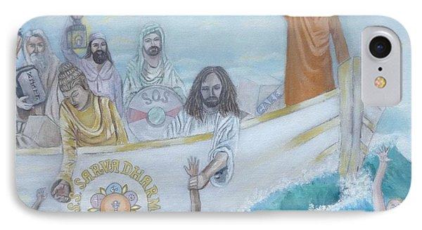 Sathya Sai Baba S.s.s. Sarva Dharma IPhone Case by Sonya Ki Tomlinson