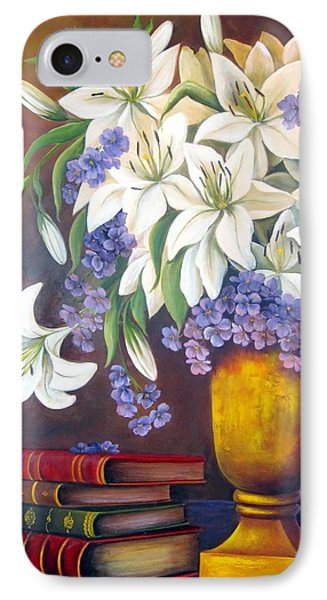 St. Anthony's Lilies IPhone Case by Katia Aho