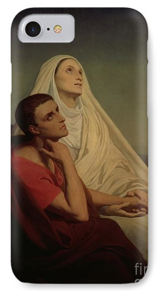 St Augustine And His Mother St Monica Phone Case by Ary Scheffer