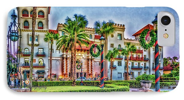 St. Augustine Downtown Christmas IPhone Case