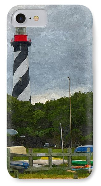 St. Augustine Lighthouse Boat Ramp IPhone Case by Jennifer Capo