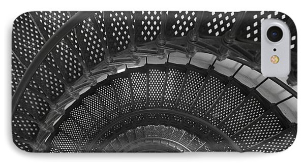 St. Augustine Lighthouse Spiral Staircase I Phone Case by Clarence Holmes