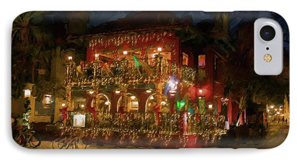 IPhone Case featuring the photograph  St. Augustine Meehan's Pub by Louis Ferreira