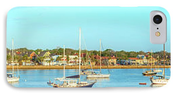 IPhone 7 Case featuring the photograph St Augustine Panorama by Sebastian Musial