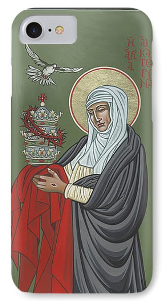 IPhone Case featuring the painting St Catherine Of Siena- Guardian Of The Papacy 288 by William Hart McNichols