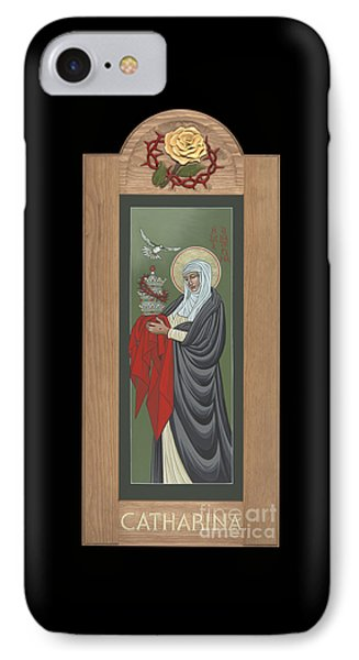 IPhone Case featuring the painting St Catherine Of Siena With Frame by William Hart McNichols