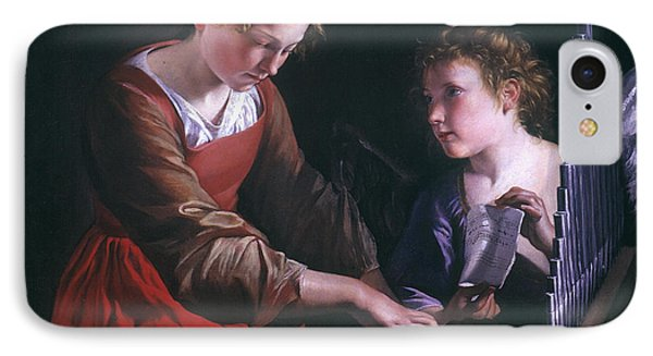 St. Cecilia And An Angel IPhone Case by Granger