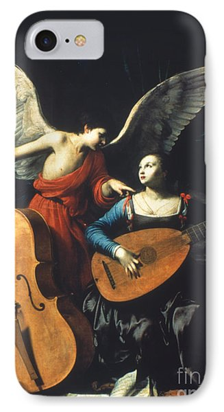 St. Cecilia And The Angel Phone Case by Granger