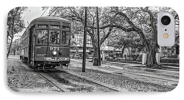St. Charles Streetcar Monochrome IPhone Case