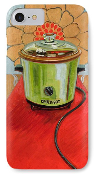 St. Crock Pot Of The Red Carpet IPhone Case by Jennie Traill Schaeffer