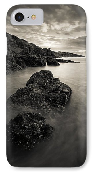 St Cyrus Beach IPhone Case by Dave Bowman