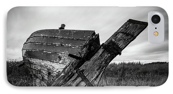 St Cyrus Wreck IPhone Case by Dave Bowman