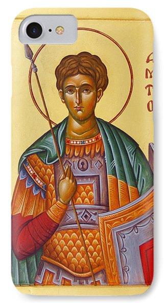 St Demetrios The Great Martyr And Myrrhstreamer Phone Case by Julia Bridget Hayes