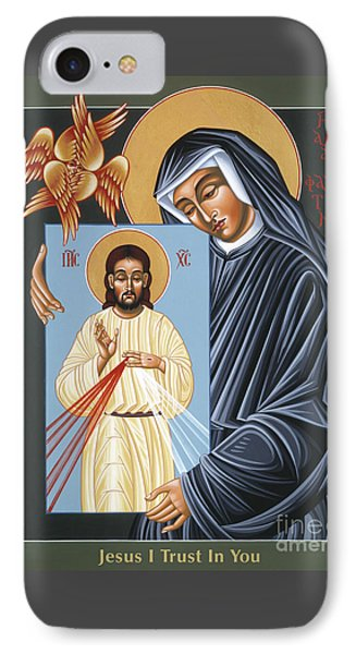 St Faustina Kowalska Apostle Of Divine Mercy 094 IPhone Case by William Hart McNichols