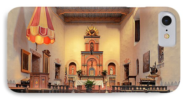 IPhone Case featuring the photograph St Francis Chapel At Mission San Diego by Christine Till