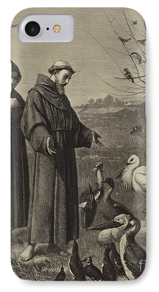 St Francis Preaches To The Birds  IPhone Case by Henry Stacey Marks