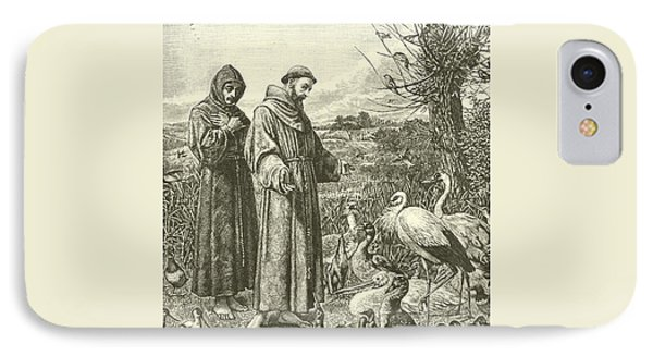 St Francis Preaching To The Birds IPhone Case by Henry Stacey Marks