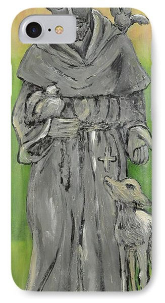 St Francis With Lamb I IPhone Case