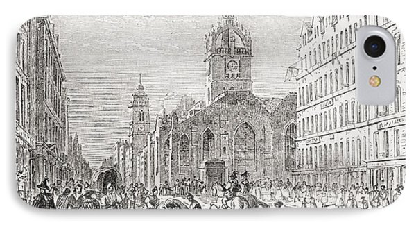 St Giles And The Old Tron Church IPhone Case by Vintage Design Pics