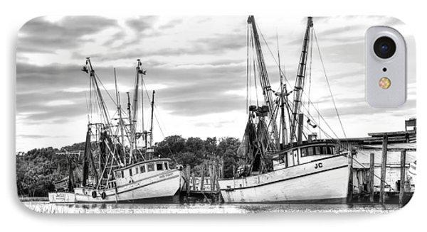 St. Helena Shrimp Boats IPhone Case by Scott Hansen