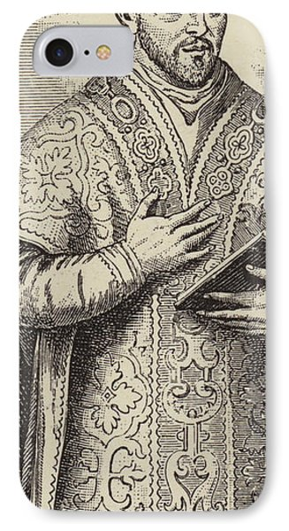 St Ignatius Loyola, Founder Of The Society Of Jesus IPhone Case by English School