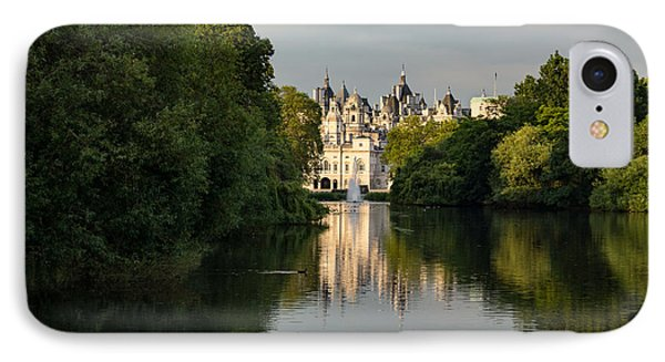 St James Park Lake Reflections London U K - Green Gray And Beautiful IPhone Case