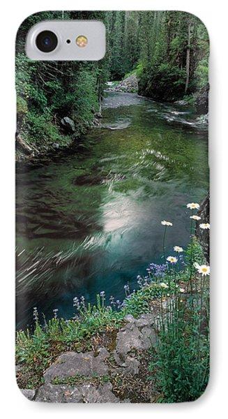 St Joe River IPhone Case by Leland D Howard