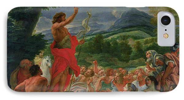 St John The Baptist Preaching Phone Case by II Baciccio - Giovanni B Gaulli