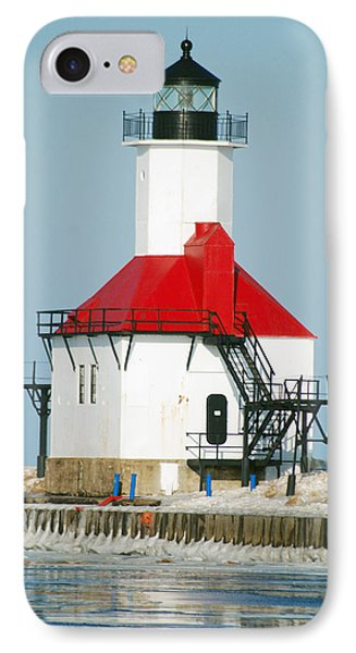 St Joseph North Pier Lights Phone Case by Michael Peychich