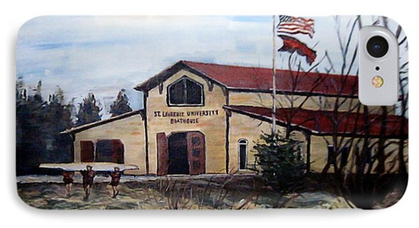 St. Lawrence Boathouse IPhone Case by Denny Morreale