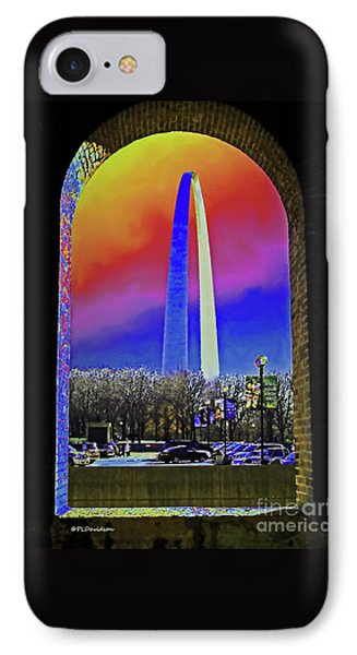 IPhone Case featuring the photograph St Louis Arch Rainbow Aura  by Patricia L Davidson