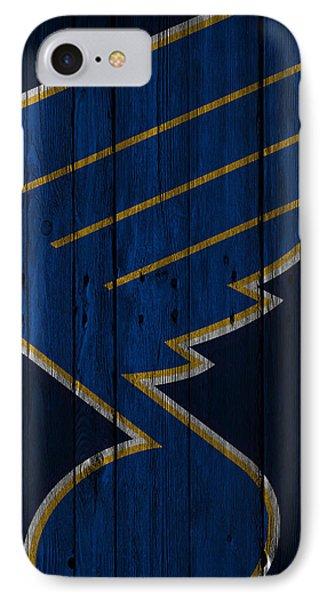 St Louis Blues Wood Fence IPhone Case by Joe Hamilton