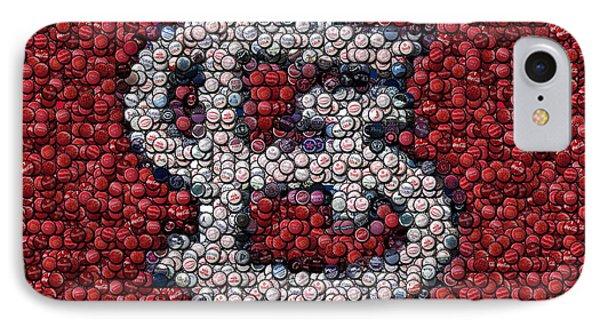 St. Louis Cardinals Bottle Cap Mosaic Phone Case by Paul Van Scott