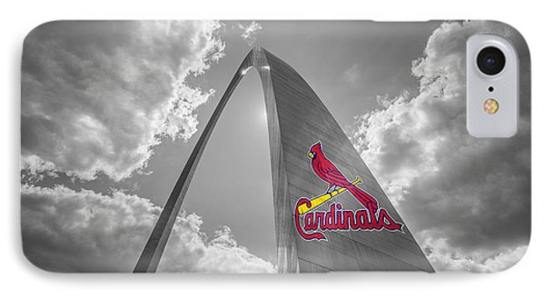 St. Louis Cardinals Busch Stadium Gateway Arch 1 IPhone Case