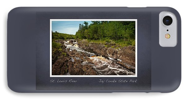 IPhone Case featuring the photograph St Louis River Poster 2 by Heidi Hermes