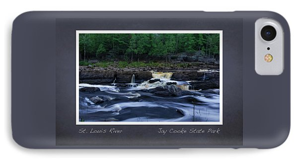 IPhone Case featuring the photograph St Louis River Scrapbook Page 1 by Heidi Hermes