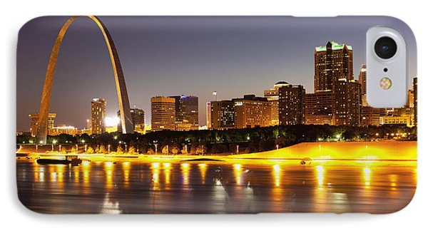 St Louis Skyline IPhone Case by Bryan Mullennix