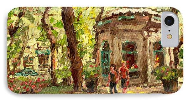 St Louis Square St Denis Street Phone Case by Carole Spandau