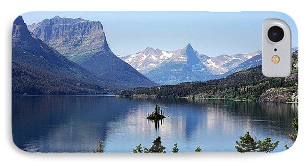 Mountain iPhone 7 Case - St Mary Lake - Glacier National Park Mt by Christine Till