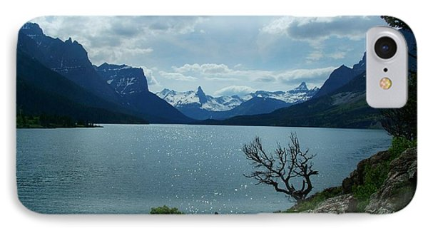 St Mary Lake, Incoming Storm IPhone Case
