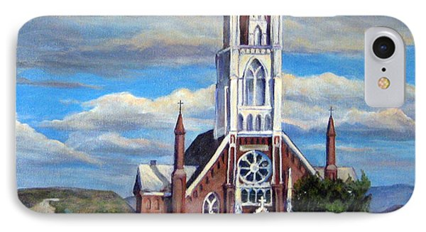IPhone Case featuring the painting St. Mary Of The Mountains by Donna Tucker