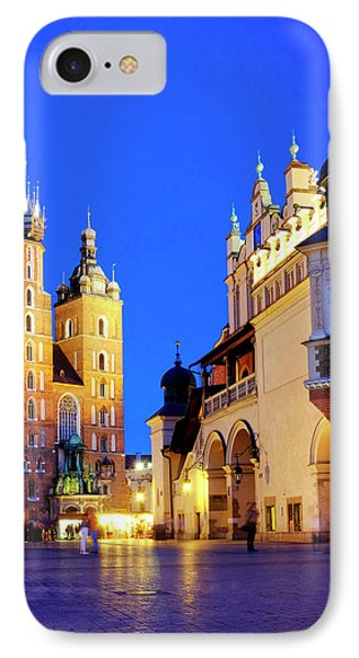 IPhone Case featuring the photograph St. Mary's Basilica And Cloth Hall by Fabrizio Troiani